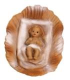 Marolin 71758 - Krippenlager mit Jesuskind zu 7cm, Kunststoff