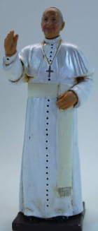 Fontanini 647 - Papst Franziskus, 11,7cm hoch, tipo legno