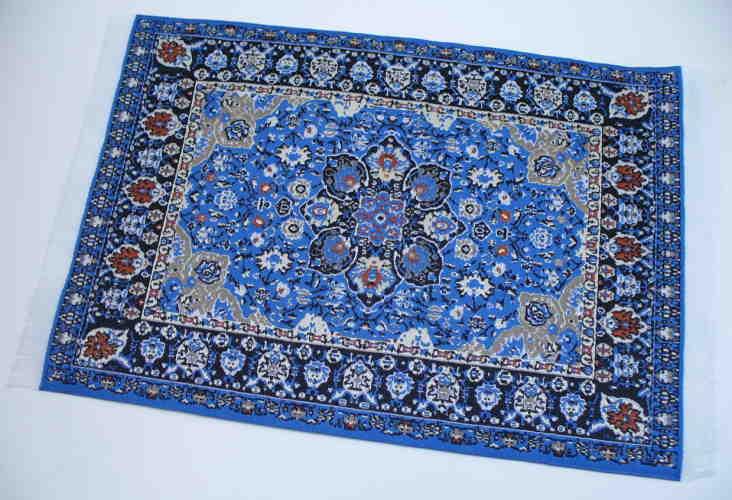 Orientteppich blau  Orientteppich blau, 23cm x 15cm