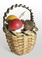 14042 - Pilzkorb mit Pilzen, ca. 4cm hoch