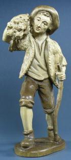 Rupert 080 - Hirt mit Brennholzbündel zu 12cm zweifarbig gebeizt
