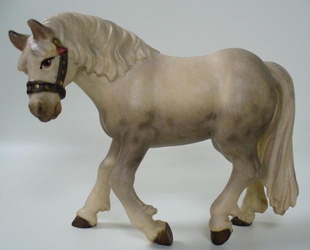 6057 - Pferd Schimmel, passend zu 11cm Figuren, lasiert