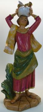 Fontanini 190 380 - Hirtin mit Huhn zu 19cm tipo legno