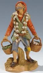 Fontanini 190 358 - Mann mit Knoblauch zu 19cm tipo legno
