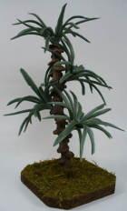 00258 - Palme mit Kunststoffblatt, 13cm hoch