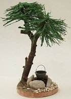 40621 - Palme mit Feuerstelle, ca. 13cm hoch