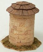 40227 - Holzturm mit Schindeldach, ca. 11cm hoch