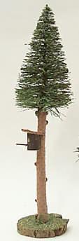 40600 - Fichte groß mit Vogelhaus, ca. 30cm hoch