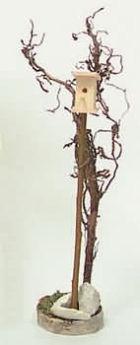 4020x - Vogelhaus mit Baum, versch. Höhen