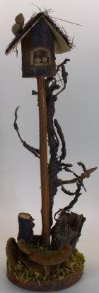 40203 - Vogelhaus mit Baum & Vogel, ca. 20cm hoch