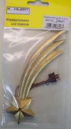 23647 - Holzkomet gold mit LED, 15cm lang - 3,5V