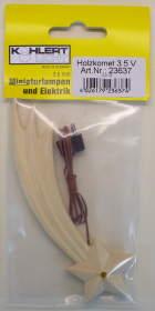 23637 - Holzkomet mit LED, 12cm lang - 3,5V