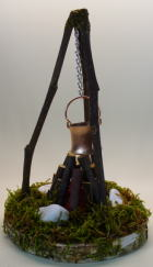49673 - Lagerfeuer mit LED und Batterie, ca. 19cm hoch