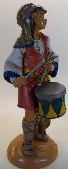 Fontanini 190 137 - Bruch - Junge mit Trommel zu 19cm tipo legno