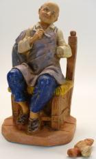 Fontanini 120 272 Bruch - Maler sitzend zu 12cm tipo legno
