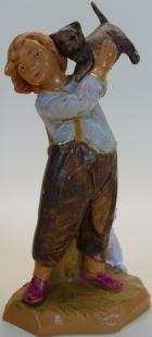 Fontanini 120 131 - Junge mit Kätzchen zu 12cm tipo legno