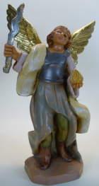 Fontanini 120 258 - Engel mit Schwert und Flamme (Blitz) zu 12cm tipo legno