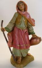 Fontanini 120 194 - Mädchen mit Amphore und Stock zu 12cm tipo legno
