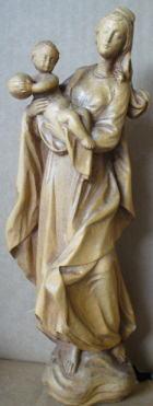 Hl. Maria mit Jesuskind, 50cm hoch, aus Holz hell gebeizt
