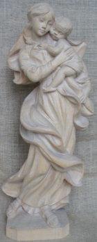 Hl. Maria mit Jesuskind, 51cm hoch, aus Holz dunkel gebeizt