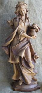 Maria Magdalena, 58cm hoch, aus Holz mehrfarbig gebeizt