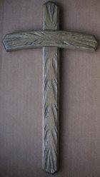 Holzkreuz, 40cm hoch, aus Eiche