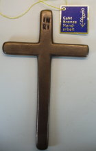 Bronzekreuz, 18,5cm hoch