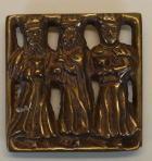 Relief Hl. 3 Könige aus Bronze, 5cm x 5cm