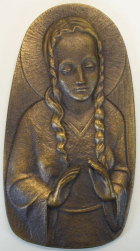 Relief Madonna von Werdenfels aus Bronze, 15cm hoch