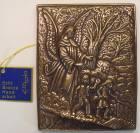 Relief Schutzengel aus Bronze, 10cm x 13cm