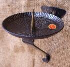 Kerzenhalter zum Hängen aus Stahl, 16cm hoch, Tellerdurchmesser 11cm