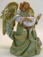 Fontanini 120 1085 - Engel mit Mandoline zu 12cm tipo legno