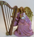 Fontanini 120 1086 - Engel mit Harfe zu 12cm tipo legno