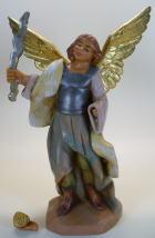 Fontanini 120 258 Bruch - Engel mit Schwert und Flamme (Blitz) zu 12cm tipo legno