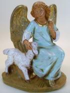Fontanini 120 392 Bruch - Engel kniend mit Schaf zu 12cm tipo legno
