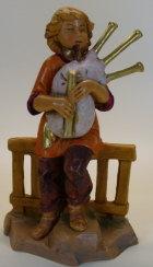 Fontanini 120 107 - Junge mit Dudelsack zu 12cm tipo legno