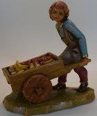 Fontanini 120 232 - Junge mit Karren zu 12cm tipo legno