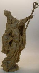 Bischof, 16cm hoch, aus Holz gebeizt