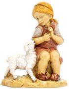 Fontanini 300 51 - Mädchen mit Lamm zu 30cm tipo legno