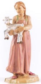 Fontanini 190 390 - Mädchen mit Ziegenkitz zu 19cm tipo legno