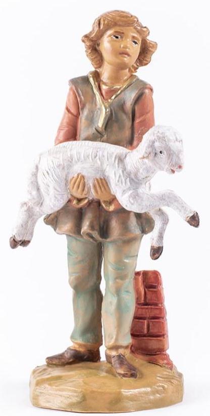 Fontanini 120 703 (lim) - Hirtenjunge mit Schaf zu 12cm tipo legno