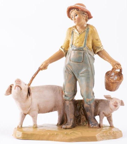 Fontanini 120 231 - Schweinehirt zu 12cm tipo legno