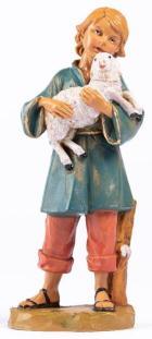 Fontanini 190 391 - Junge mit Schaf zu 19cm tipo legno