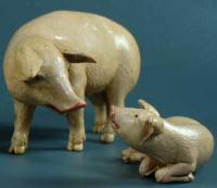 Schweine aus Kunststoff